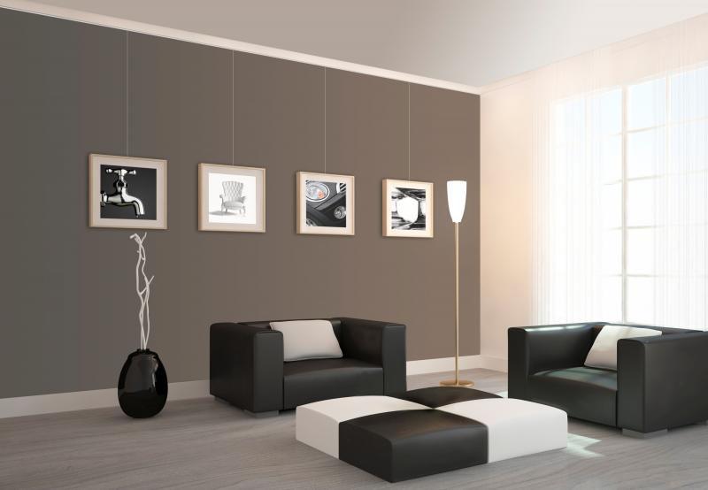 Schilderijrail modern interieur