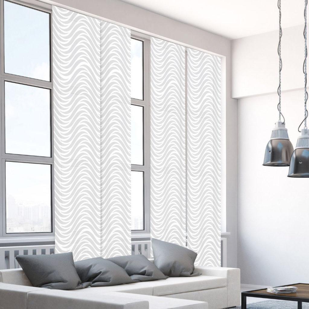 Panels_Stores003b_Paneelgordijnen_panneaux-Japonnais_Panel-track_flaechenvorhang_modern-zilver-wit-dessin